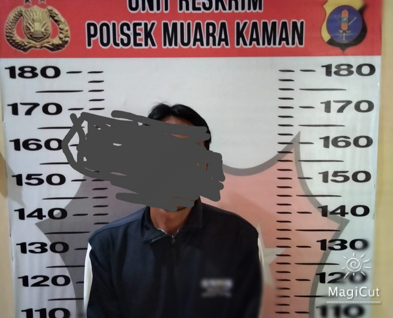 Keterangan Foto : Tersangka Rusdi bersama sejumlah barang bukti yang diamankan oleh Team Biawak Polsek Muara Kaman, Rabu 22 September 2021. (Foto-foto : Polsek Muara Kaman).